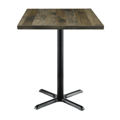 Urban Loft 42 Square Cafe Table Top Finish: Barnwood Vintage, Size: 41 H x 30 W  30 D