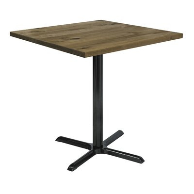 Urban Loft 42 Square Cafe Table Top Finish: Natural Vintage, Size: 41 H x 42 W  42 D