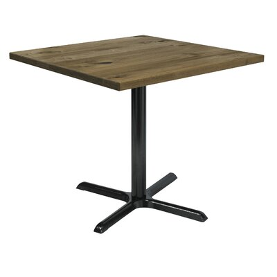 Urban Loft 42 Square Cafe Table Top Finish: Natural Vintage, Size: 29 H x 42 W  42 D