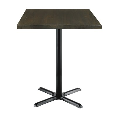 Urban Loft 42 Square Cafe Table Top Finish: Espresso Vintage, Size: 41 H x 30 W  30 D
