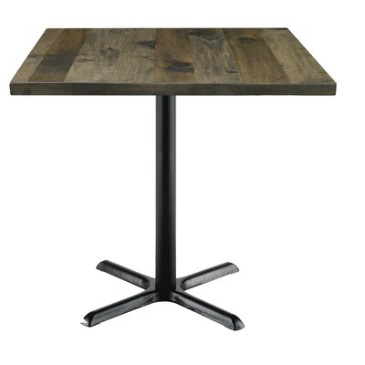 Urban Loft 42 Square Cafe Table Top Finish: Barnwood Vintage, Size: 36 H x 36 W  36 D
