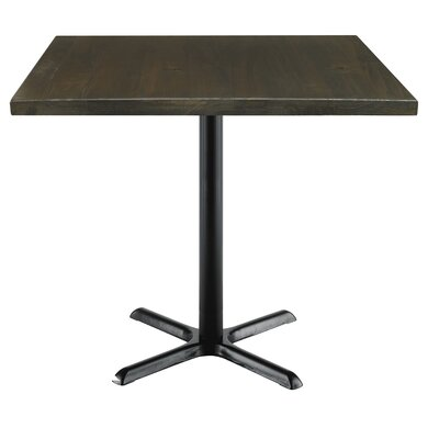 Urban Loft 42 Square Cafe Table Top Finish: Espresso Vintage, Size: 36 H x 42 W  42 D