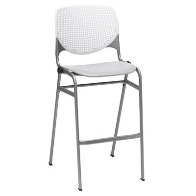 Lundell 30 Bar Stool Color: White/Light Gray