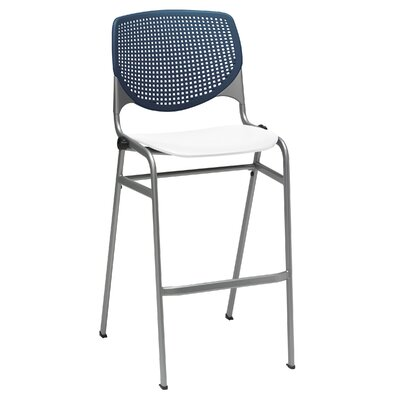 Lundell 30 Bar Stool Color: Navy/White