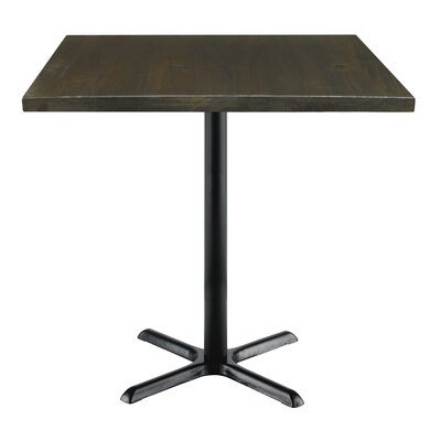 Urban Loft 42 Square Cafe Table Top Finish: Espresso Vintage, Size: 41 H x 42 W  42 D