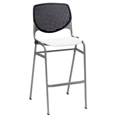 Lundell 30 Bar Stool Color: Black/White