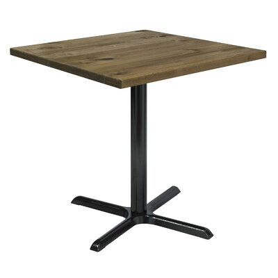 Urban Loft 42 Square Cafe Table Top Finish: Natural Vintage, Size: 36 H x 36 W  36 D