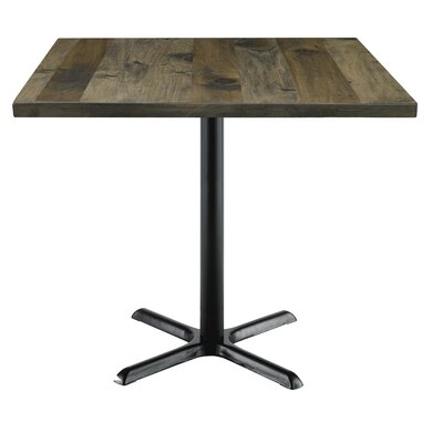 Urban Loft 42 Square Cafe Table Top Finish: Barnwood Vintage, Size: 36 H x 42 W  42 D