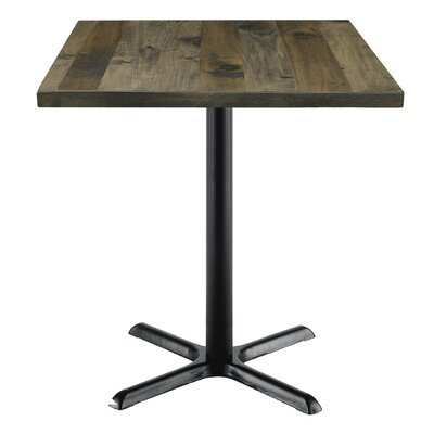 Urban Loft 42 Square Cafe Table Top Finish: Espresso Vintage, Size: 29 H x 42 W  42 D