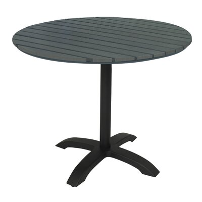 Eveleen Pedestal Dining Table Finish: Dark Gray