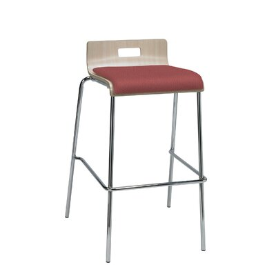 Winhall Low Back 30 Bar Stool Finish: Lipstick/Natural