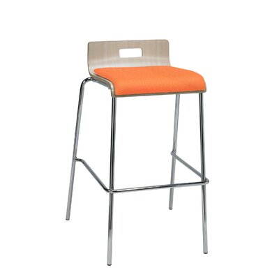 Winhall Low Back 30 Bar Stool Finish: Squash/Natural