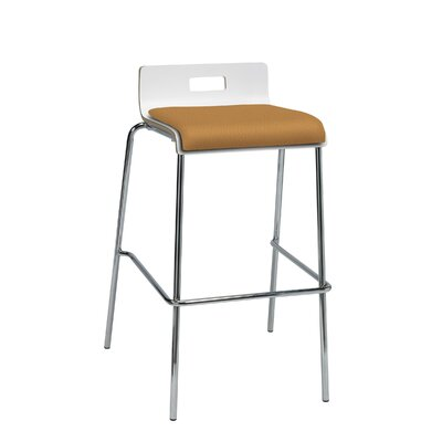 Winhall Low Back 30 Bar Stool Finish: Fiesta/White