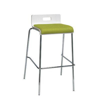 Winhall Low Back 30 Bar Stool Finish: Avocado/White