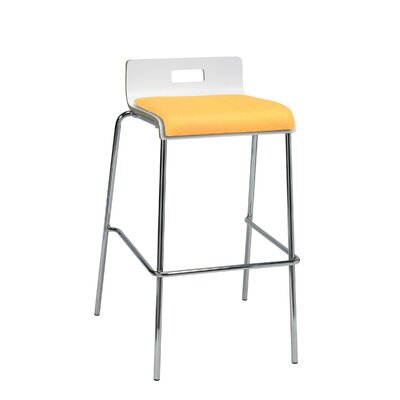 Winhall Low Back 30 Bar Stool Finish: Daffodil/White