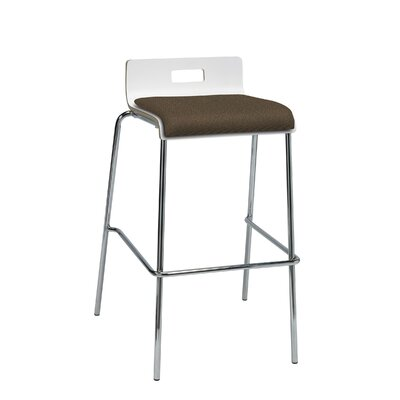 Winhall Low Back 30 Bar Stool Finish: Fudge/White