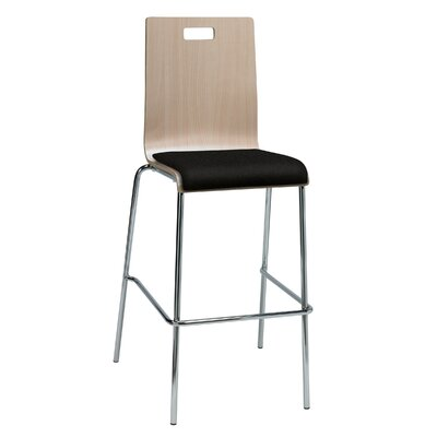 Winhall 30 Bar Stool Finish: Tuxedo/Natural