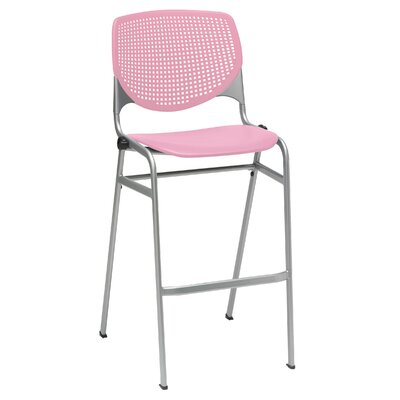 Lundell 30 Bar Stool Upholstery: Pink