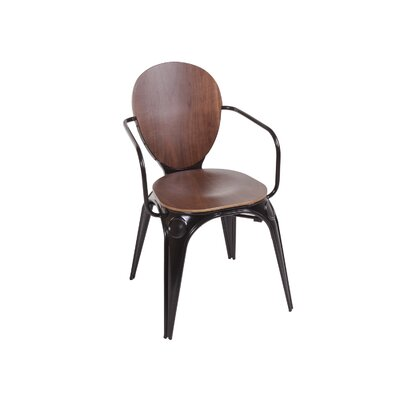 Fiskar Arm Chair Leg Finish: Black
