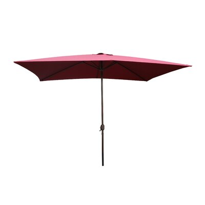 6.5 x 10 Rectangular Market Umbrella Fabric: Burgundy