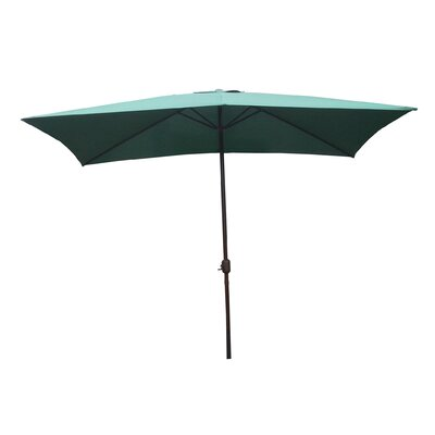 6.5 x 10 Rectangular Market Umbrella Fabric: Hunter