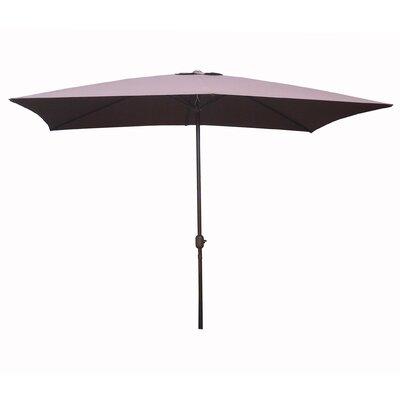 6.5 x 10 Rectangular Market Umbrella Fabric: Brown