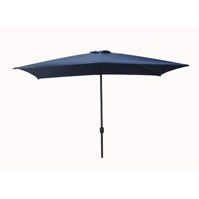 6.5 x 10 Rectangular Market Umbrella Fabric: Navy