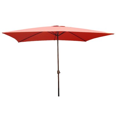 6.5 x 10 Rectangular Market Umbrella Fabric: Terracotta