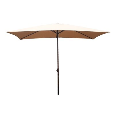 6.5 x 10 Rectangular Market Umbrella Fabric: Dark Beige