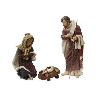 3 Piece Outdoor Holy Family Nativity Christmas Yard Art Statue Set 70478
