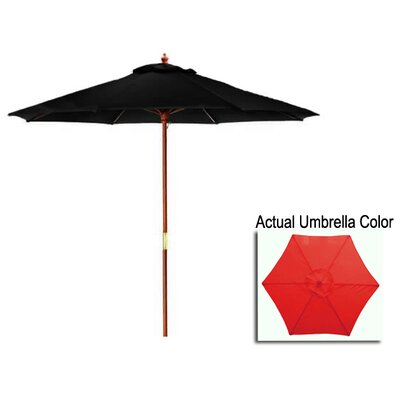 8 Market Umbrella Color: Red/Cherry Wood