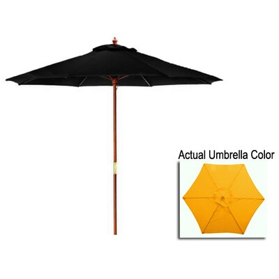 8 Market Umbrella Color: Yellow/Cherry Wood
