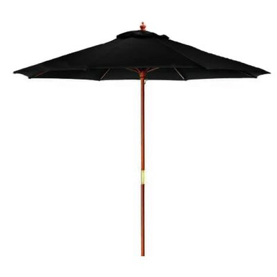 8 Market Umbrella Color: Black/Cherry Wood