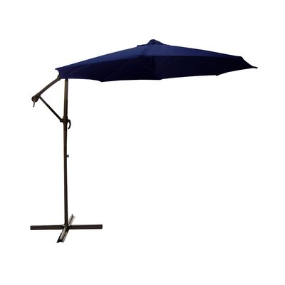 9.5 Cantilever Umbrella Color: Navy Blue