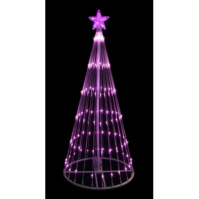 4' Light Show Cone Christmas Tree Lighted Yard Art Decoration Color: Pink