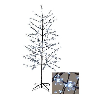 Enchanted Garden 6' Cherry Blossom Flower Christmas Tree with 280 LED Pure White Lights