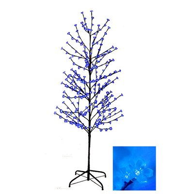 Enchanted Garden 6' Cherry Blossom Flower Christmas Tree with 280 LED Blue Lights