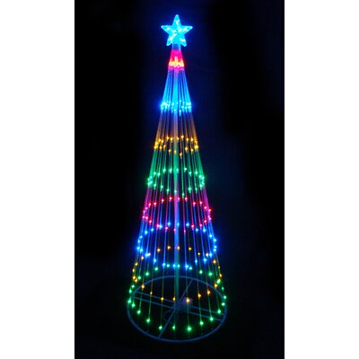 Decorative LED Light Show Cone Christmas Tree Lighted Display 3585