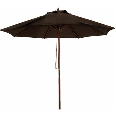 8 Market Umbrella Color: Brown/Cherry Wood