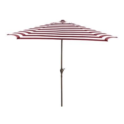 8 Market Umbrella Color: Burgundy/White