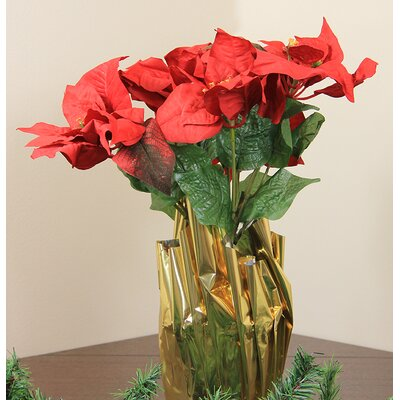 Artificial Poinsettia Christmas Plant