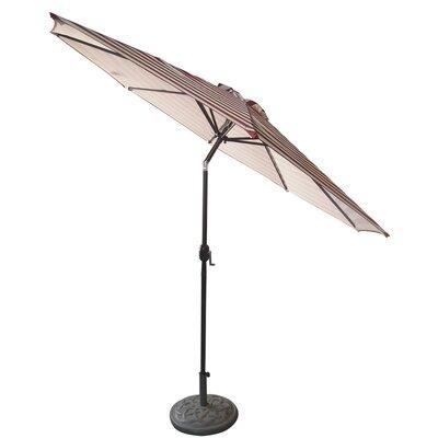 9 Market Umbrella Fabric: Burgundy/White