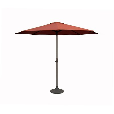 9' Market Umbrella Color: Terracotta/Brown 93181