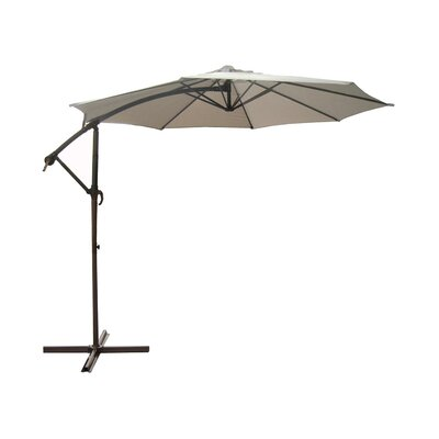 9.5 Cantilever Umbrella Color: Beige