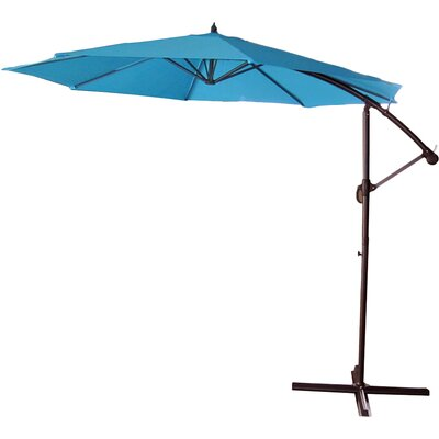 9.5 Cantilever Umbrella Color: Turquoise Blue