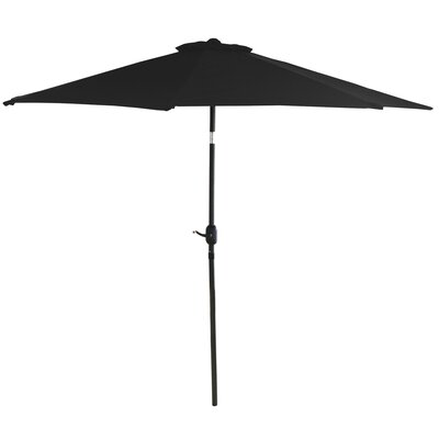 9 Market Umbrella Fabric: Black