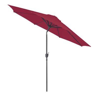 9 Market Umbrella Fabric: Burgundy