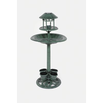 LB International Solar Bird Bath Feeder with 4 Planters at Sears.com