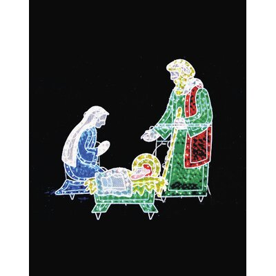 Holograph Nativity Frame Christmas Decoration