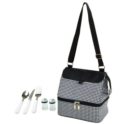 Houndstooth Insulated Lunch Bag 529D-HT